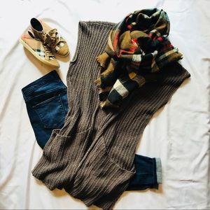 Free People Long Sleeveless Knit Cardigan